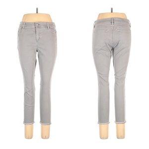 Loft Gray Modern Skinny Crop High Rise Jeans
